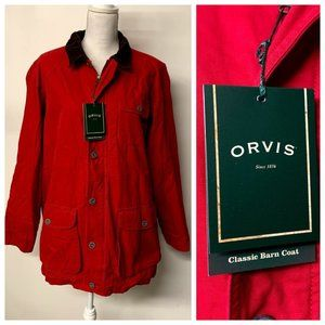 NWT Orvis Red & Brown Classic Barn Coat Jacket